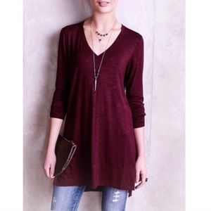 ANTHROPOLOGIE PURE + GOOD EXTRA LONG V-NECK TUNIC